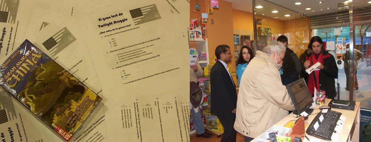 Asistentes al evento muy aplicados rellenando el test.