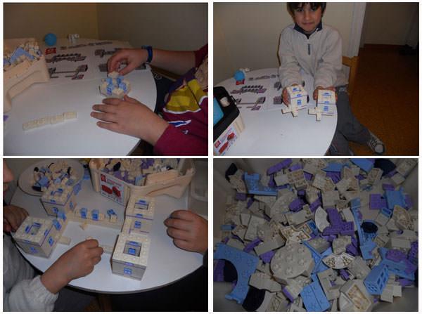 Los primeros pasos / Ya tenemos dos torres / El castillo empieza a tomar forma / ¡un montón de piezas!
